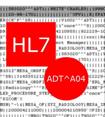 HL7 Message ADT A04
